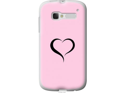 Чехол на Alcatel One Touch Pop C5 5036D Сердце 1 (4730u-324-22700)