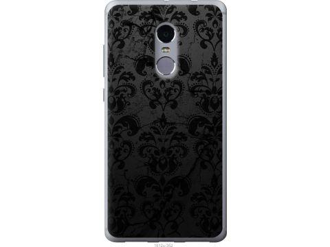 Чехол на Xiaomi Redmi Note 4 узор черный (1612u-352-22700)