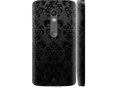 Чехол на Motorola Moto X Play узор черный (1612c-459-22700)
