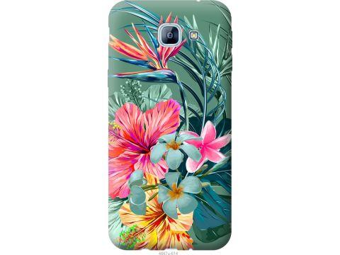 Чехол на Samsung Galaxy A8 (2016) A810 Тропические цветы v1 (4667u-614-22700)