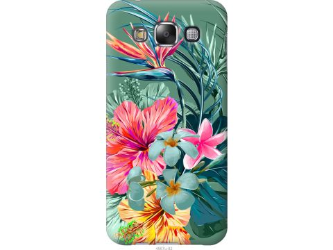 Чехол на Samsung Galaxy E5 E500H Тропические цветы v1 (4667u-82-22700)