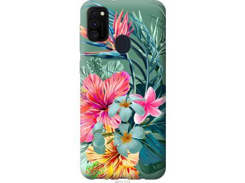 Чехол на Samsung Galaxy M30s 2019 Тропические цветы v1 (4667t-1774-22700)