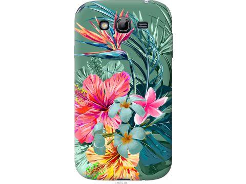 Чехол на Samsung Galaxy Grand Neo I9060 Тропические цветы v1 (4667u-112-22700)