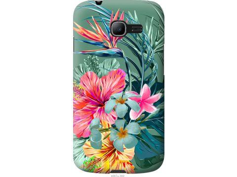 Чехол на Samsung Galaxy Star Plus S7262 Тропические цветы v1 (4667u-360-22700)