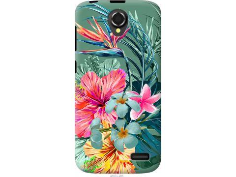 Чехол на Lenovo A388t Тропические цветы v1 (4667u-285-22700)