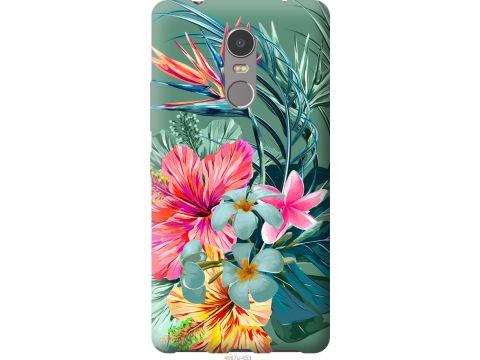 Чехол на Lenovo K6 Note Тропические цветы v1 (4667t-453-22700)