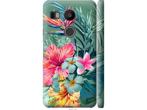 Чехол на LG Nexus 5X H791 Тропические цветы v1 (4667m-150-22700)
