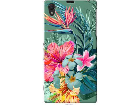 Чехол на Sony Xperia Z1 C6902 Тропические цветы v1 (4667u-38-22700)