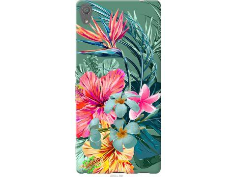 Чехол на Sony Xperia XA Ultra Dual F3212 Тропические цветы v1 (4667t-391-22700)