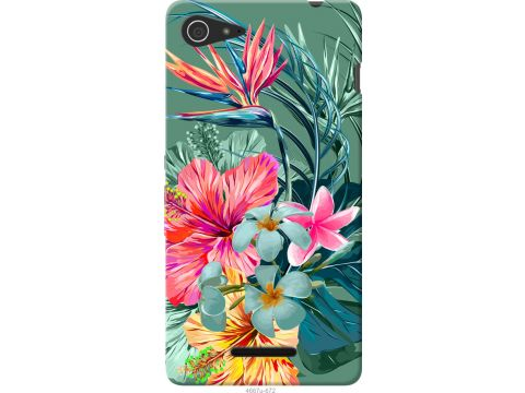Чехол на Sony Xperia E3 D2202 Тропические цветы v1 (4667u-672-22700)
