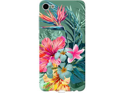 Чехол на Meizu U10 Тропические цветы v1 (4667t-415-22700)