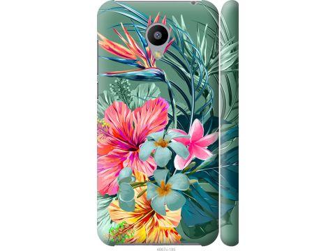 Чехол на Meizu M2 Тропические цветы v1 (4667m-185-22700)