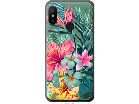 Чехол на Xiaomi Redmi 6 Pro Тропические цветы v1 (4667t-1595-22700)