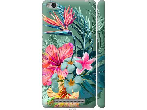 Чехол на Xiaomi Redmi 3 Тропические цветы v1 (4667m-97-22700)