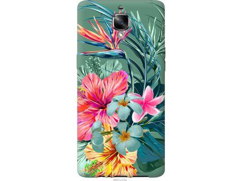 Чехол на OnePlus 3 Тропические цветы v1 (4667u-334-22700)