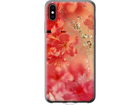 Чехол на iPhone XS Max Розовые цветы (2461u-1557-22700)