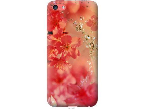 Чехол на iPhone 5c Розовые цветы (2461u-23-22700)