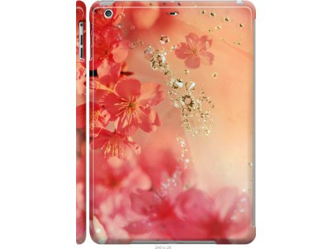 Чехол на iPad 5 (Air) Розовые цветы (2461c-26-22700)