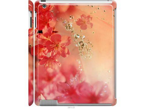 Чехол на iPad 2/3/4 Розовые цветы (2461m-25-22700)