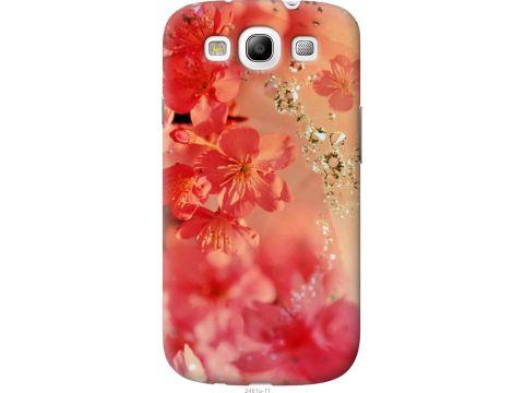 Чехол на Samsung Galaxy S3 Duos I9300i Розовые цветы (2461t-50-22700)