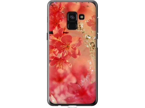 Чехол на Samsung Galaxy A8 2018 A530F Розовые цветы (2461u-1344-22700)