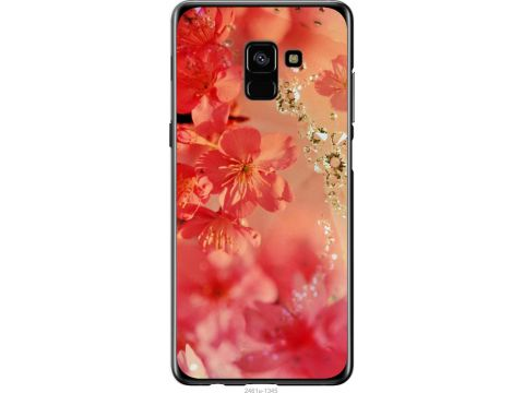 Чехол на Samsung Galaxy A8 Plus 2018 A730F Розовые цветы (2461u-1345-22700)