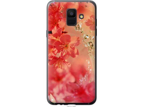 Чехол на Samsung Galaxy A6 2018 Розовые цветы (2461t-1480-22700)