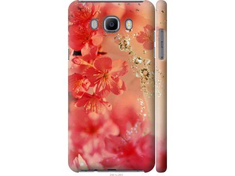 Чехол на Samsung Galaxy J7 (2016) J710F Розовые цветы (2461m-263-22700)
