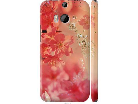 Чехол на HTC One M8 Розовые цветы (2461m-30-22700)