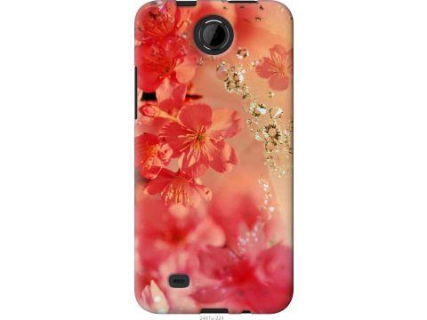 Чехол на HTC Desire 300 Розовые цветы (2461u-224-22700)