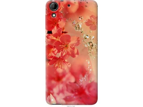 Чехол на HTC Desire 728G Розовые цветы (2461u-145-22700)