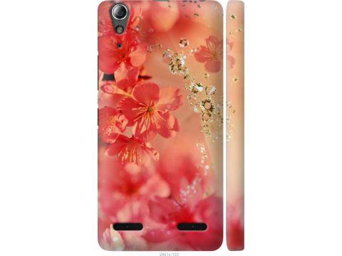 Чехол на Lenovo K3 (K30-t) Розовые цветы (2461m-114-22700)