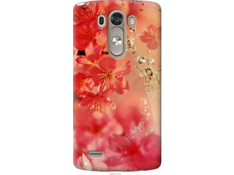 Чехол на LG G3 dual D856 Розовые цветы (2461u-56-22700)