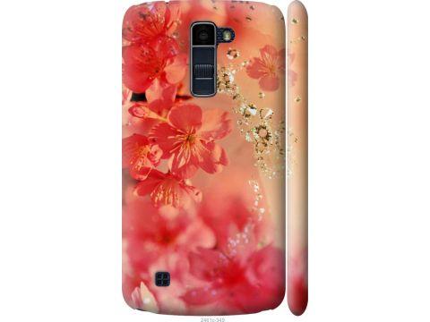 Чехол на LG K10 / K410 Розовые цветы (2461m-349-22700)