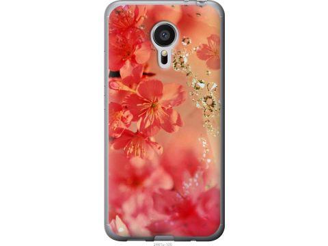 Чехол на Meizu MX5 Розовые цветы (2461t-105-22700)