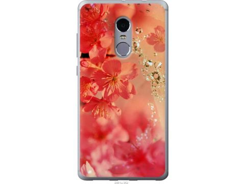 Чехол на Xiaomi Redmi Note 4 Розовые цветы (2461u-352-22700)