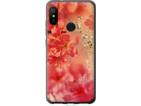 Чехол на Xiaomi Redmi 6 Pro Розовые цветы (2461t-1595-22700)