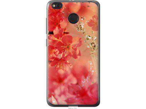 Чехол на Xiaomi Redmi 4X Розовые цветы (2461t-778-22700)