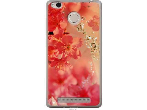 Чехол на Xiaomi Redmi 3 Pro Розовые цветы (2461u-341-22700)