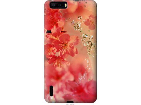 Чехол на Huawei Honor 6 Plus Розовые цветы (2461u-179-22700)