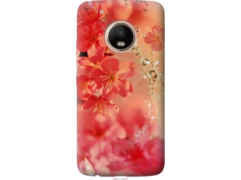 Чехол на Motorola Moto G5 PLUS Розовые цветы (2461t-1038-22700)