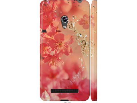 Чехол на Asus Zenfone 5 Розовые цветы (2461m-81-22700)