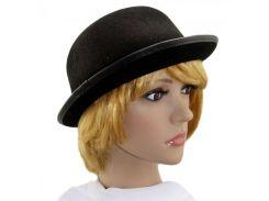Шляпа Котелок фетровый черный