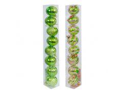 """Ёлочные игрушки """"Шарики в колбе"""", d=4,5 см (8 шт), салатовый C30621"""
