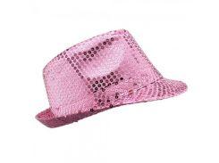 Шляпа Твист розовая