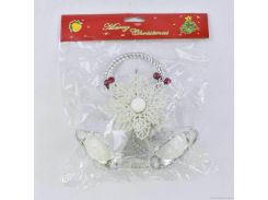 """Ёлочная игрушка """"Белые колокольчики"""" C31059"""