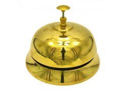 Звонок настольный 10см (золото)