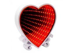Светильник Бесконечность Сердце (красный)