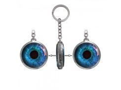 Брелок двухсторонний Глаз синий