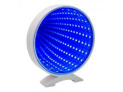 Светильник Бесконечность с USB Круг (голубой)